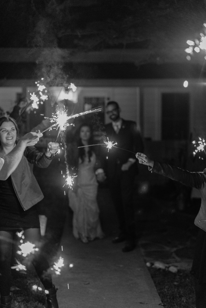 Nevada City wedding sparklers photo