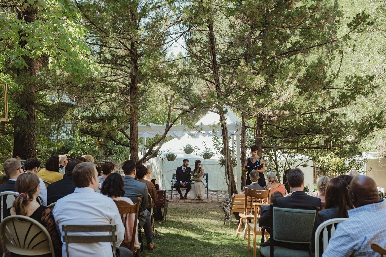 Nevada City wedding wide-angle shot photo