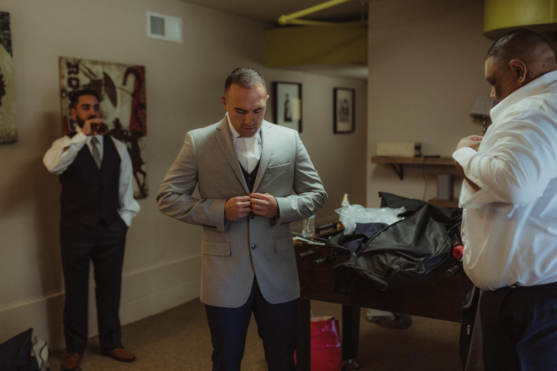 Tannenbaum Reno Wedding groom getting ready photo