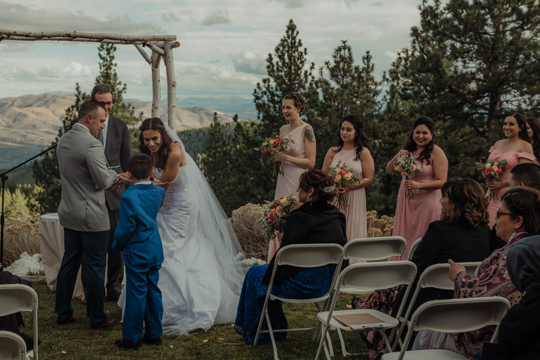 Tannenbaum Reno Wedding son with the rings photo