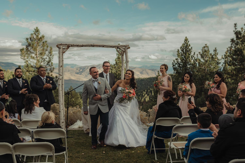 Tannenbaum Reno Wedding walking down the isle photo