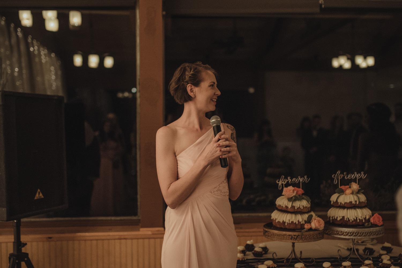 Tannenbaum Wedding Venue MOH giving a toast photo