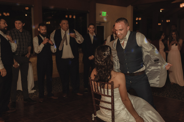 Tannenbaum Wedding Venue groom dancing on his bride photo