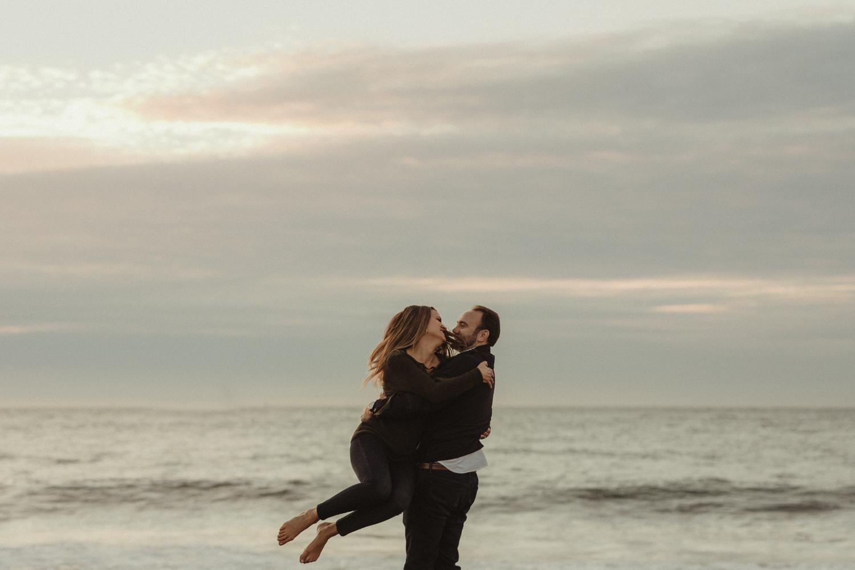 San Francisco engagement photo at Baker Beach