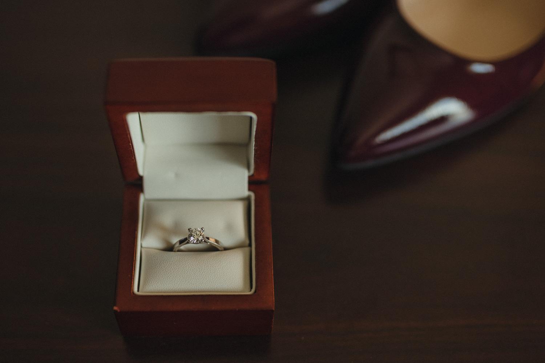 Logan Shoals elopement ring photo