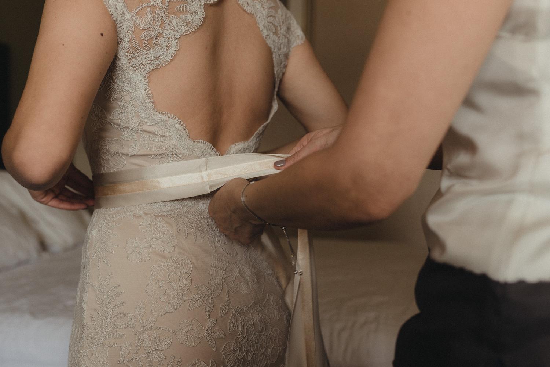 Logan Shoals elopement dress detail photo