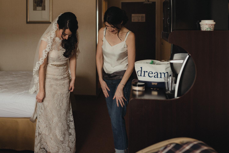 Logan Shoals elopement bride and mom photo