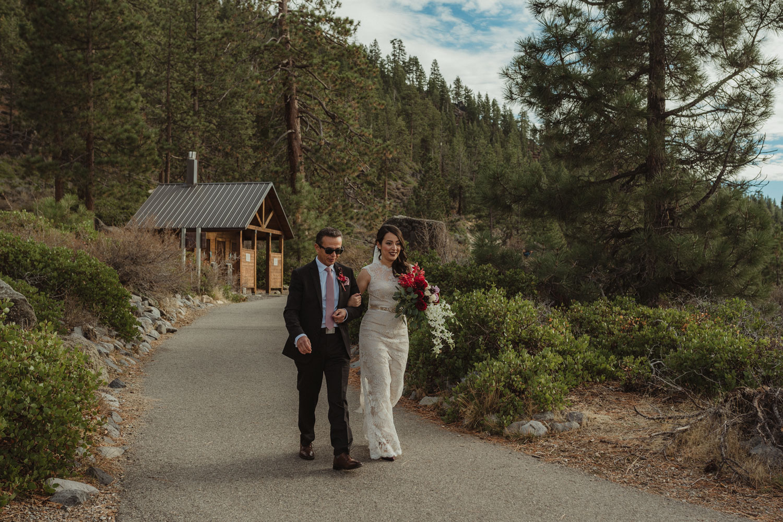 Logan Shoals elopement bride walking down the isle photo