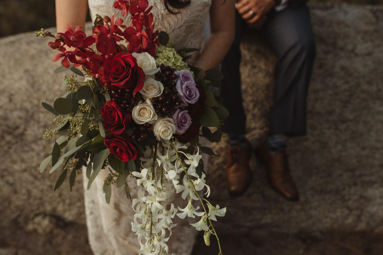 Logan Shoals elopement flowers photo