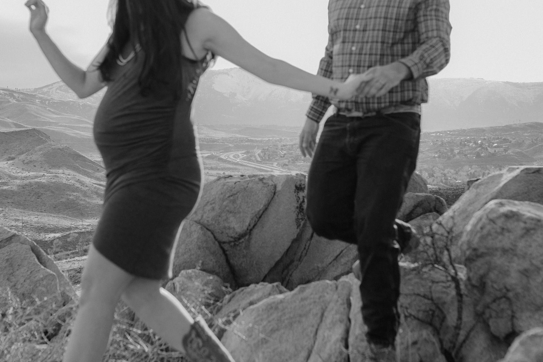 Desert editorial maternity session inspiration photo