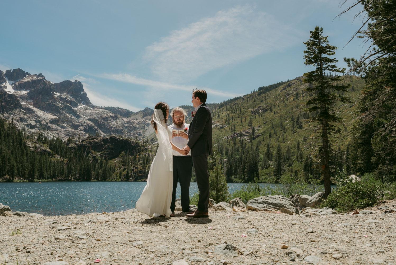 Lake Tahoe elopement inspiration photo