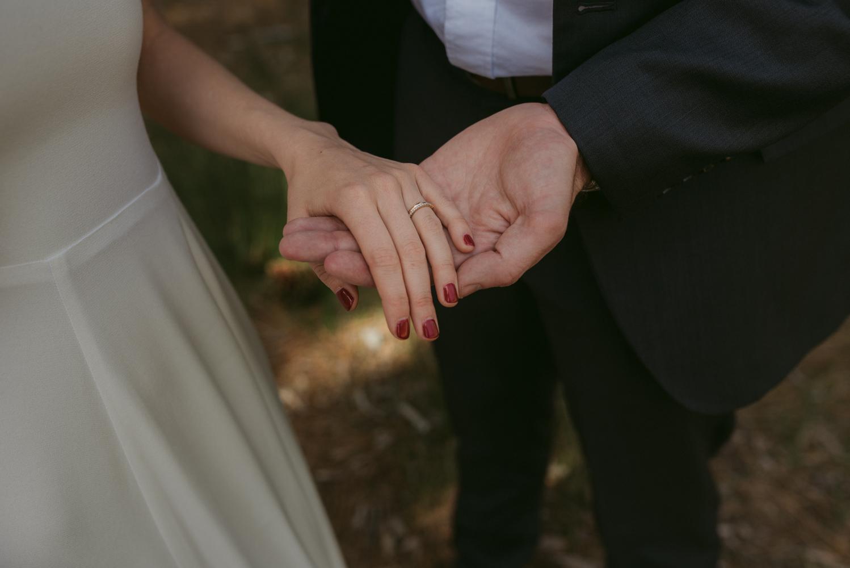 Sardine Lake Resort, Sierra Buttes elopement simple rings photo