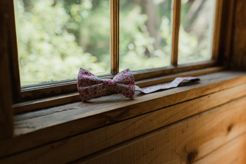 Twenty Mile House Wedding wedding bow photo