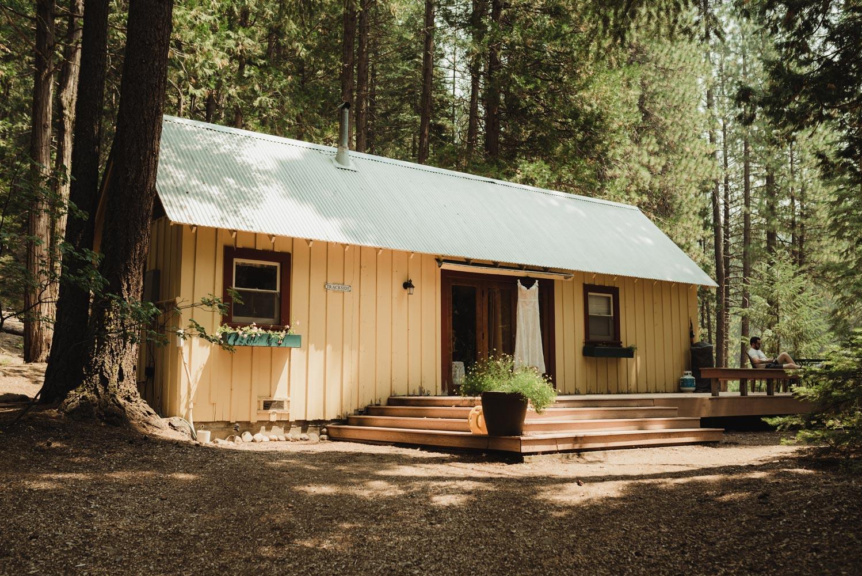 Twenty Mile House wedding yellow cabin photo