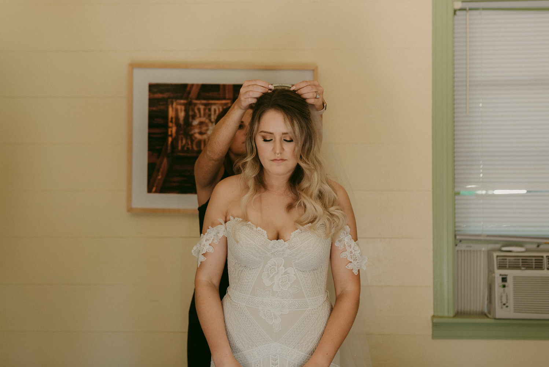 Twenty Mile House wedding veil photo