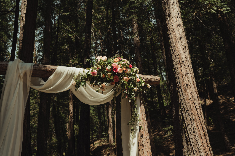 Twenty Mile House wedding floral arrangement photo