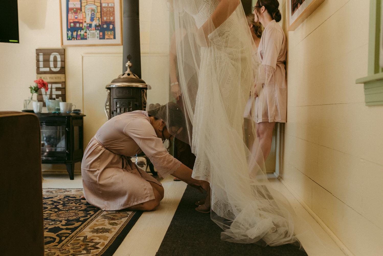 Twenty Mile House wedding wedding shoes photo