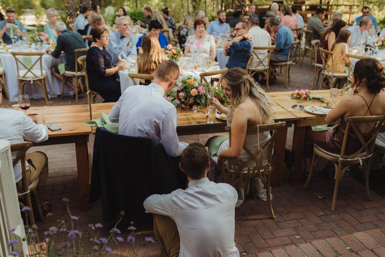 Twenty Mile House wedding reception vibes photo