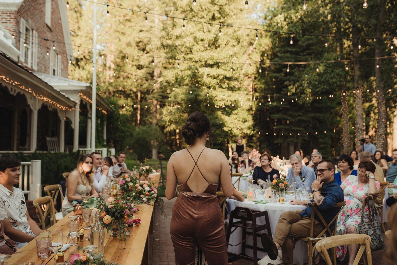 Twenty Mile House wedding mom toasts photo