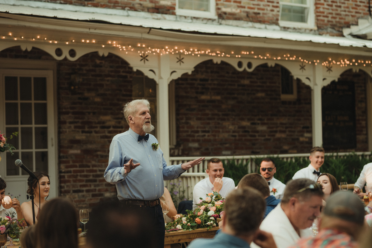Twenty Mile House wedding grooms father giving a toast photo