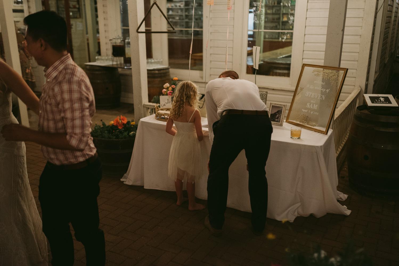 Twenty Mile House wedding reception photo