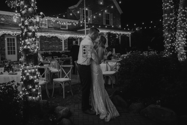 Twenty Mile House wedding night photo