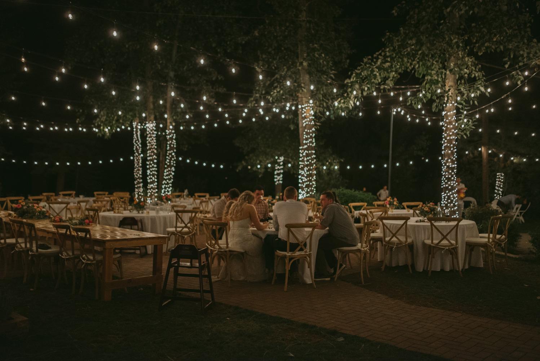 Twenty Mile House wedding at night photo