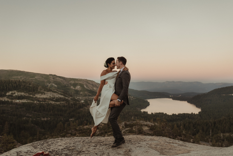 Lake Tahoe pop-up wedding/elopement professional dancers photo