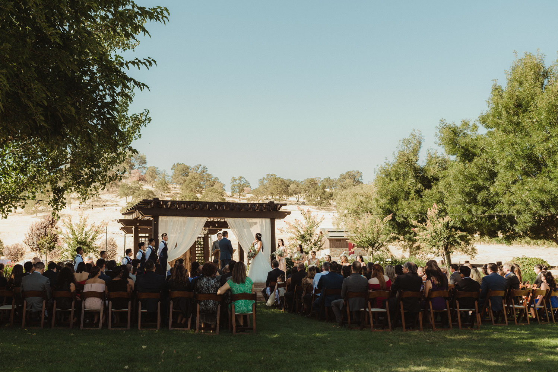 Ranch Victoria vineyard wedding ceremony photo