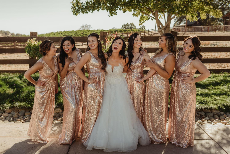 Ranch Victoria vineyard wedding bridesmaids photo