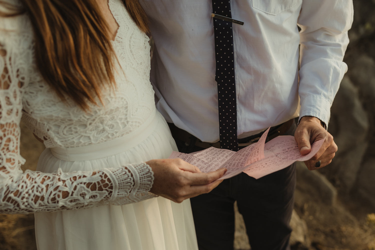 Lake Tahoe vow renewal letters photo