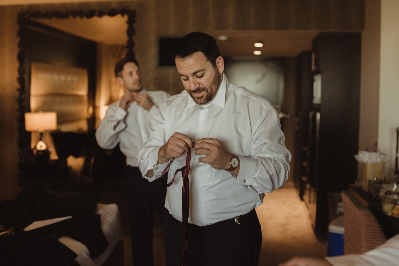 grand sierra wedding groom getting ready photo
