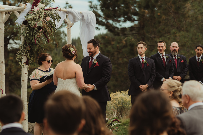 tannenbaum wedding venue groom during the ceremony photo