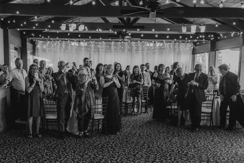 tannenbaum wedding venue grand entrance guests reaction photo