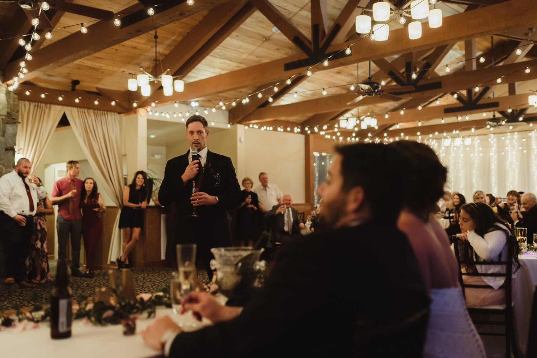 tannenbaum wedding venue best man giving a toast photo