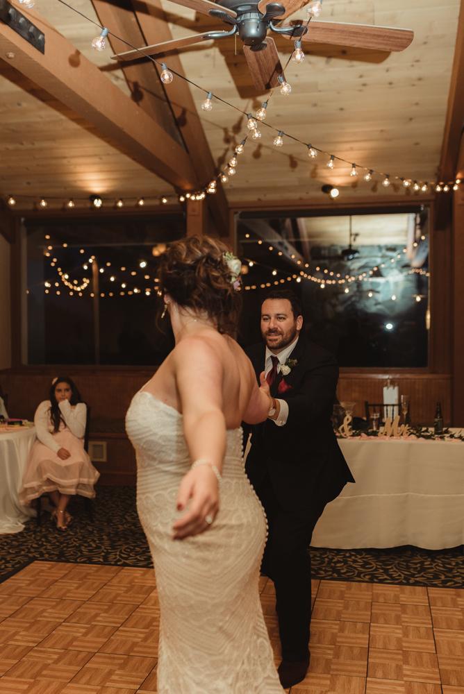 tannenbaum wedding venue couple enjoying their first dance photo