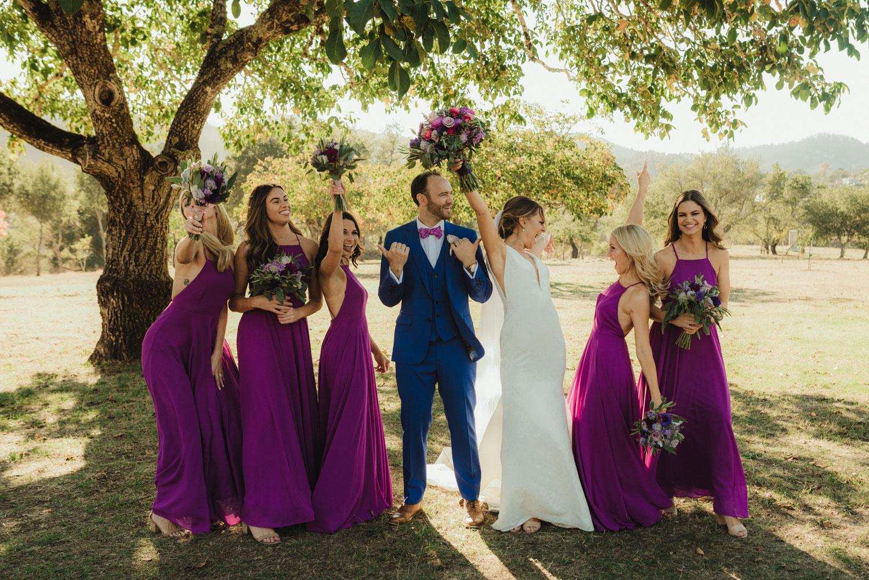 Triple S Ranch Wedding Venue, groom with bridesmaids photo