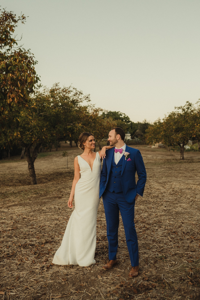 Triple S Ranch Wedding Venue, couples photo during sunset
