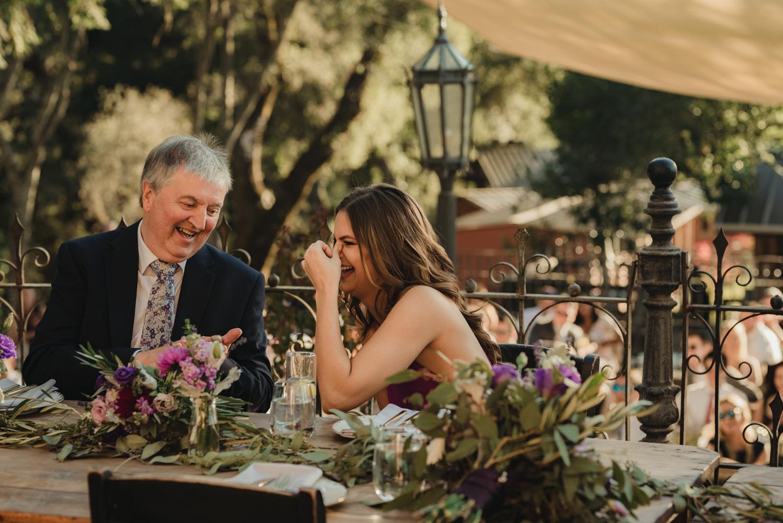 Triple S Ranch Wedding Venue, dad of bride laughing photo