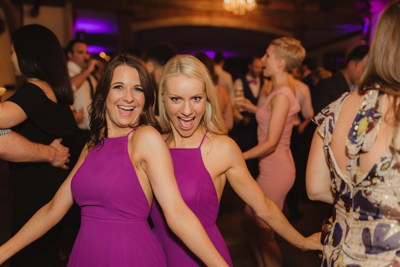 Triple S Ranch Wedding Venue, bridesmaids dancing photo