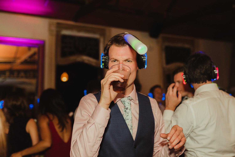 Triple S Ranch Wedding Venue, guests enjoying the silent disco photo