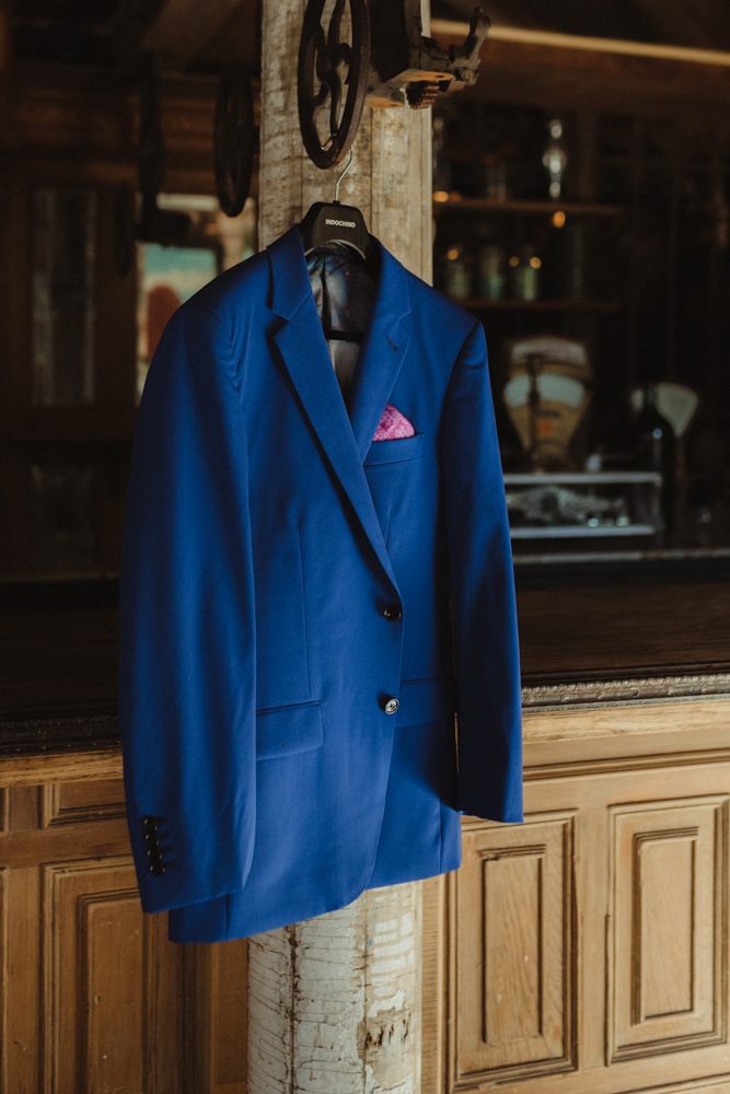 Calistoga Boutique Resort wedding, custom wedding suit photo