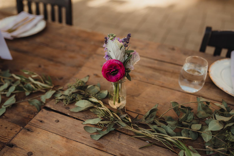 Calistoga Boutique Resort wedding, floral decoration photo