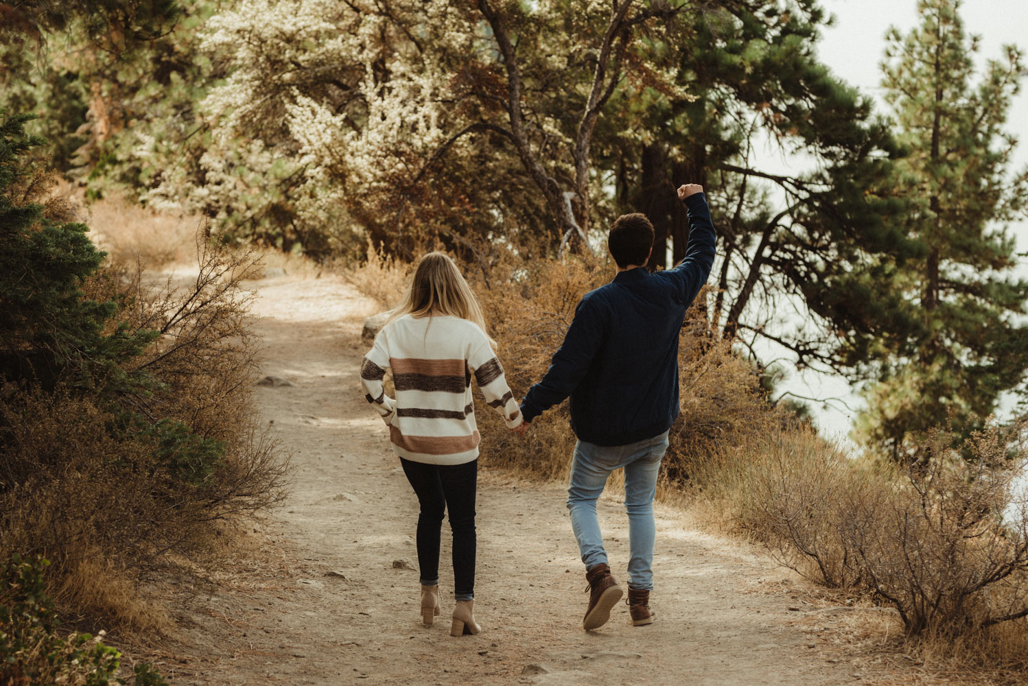 Cave Rock engagement session inspiration at Lake Tahoe,  couples photo