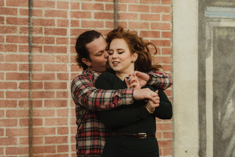 Virginia City Engagement session, couple hugging photo