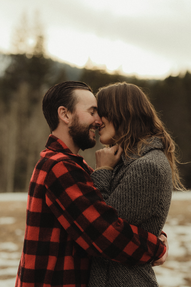 Strawberry California engagement session during golden hour photo