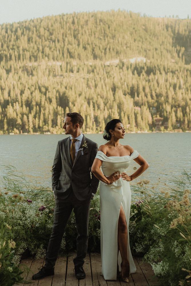 elopement photo in Truckee, ca