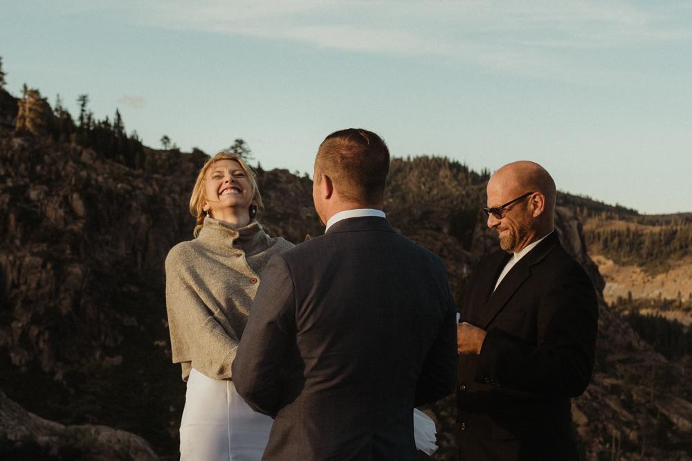 Lake Tahoe elopement photo
