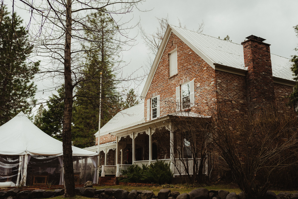 Twenty Mile House Wedding in April, main house photo