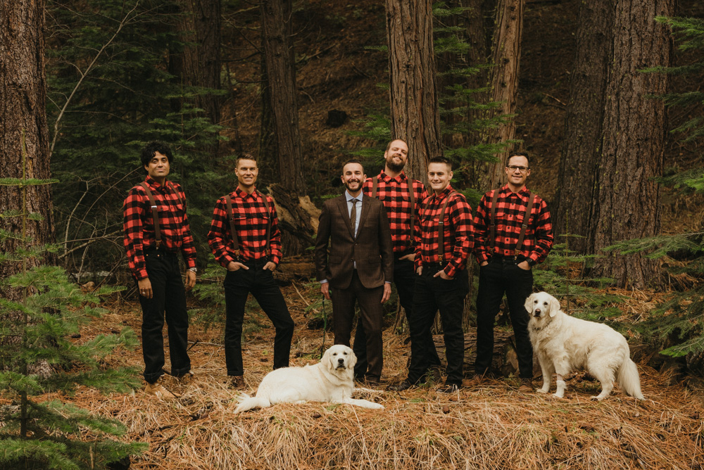 Twenty Mile House Wedding, groomsmen photo